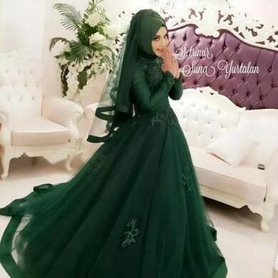 Dark Green Wedding Ball Gowns Musl