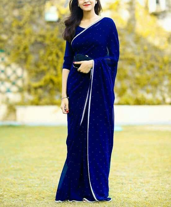 44cb7d34d6 Blue Elegant Prom Dresses, Indian Sari Simple Evening Dresses ,Important  Party Dress,chiffon Formal Dresses ,special Occasion Dress