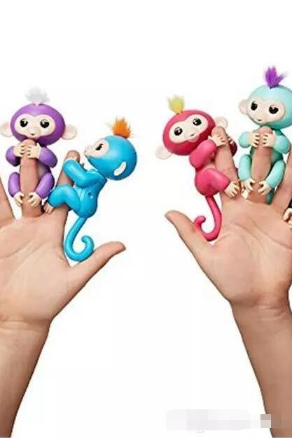 6 colors Pre-sale retail Fingerlings - Interactive Baby Monkey Finger Toys Monkey Electronic Smart Fingers Monkey ABS+PVC 130mm